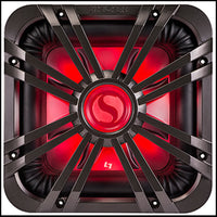 "KICKER 10"" Square Charcoal LED Grille"