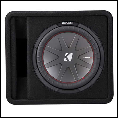 "KICKER 12"" CompR Enclosure Audio Design"