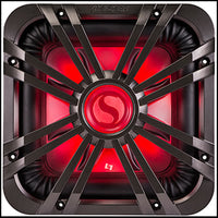 "KICKER 12"" Square Charcoal LED Grille"