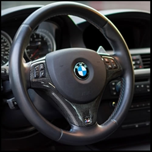 Autotecknic BMW E90-E92-E93 M3 / E82 1M Coupe Carbon Fiber Steering Wheel Trim