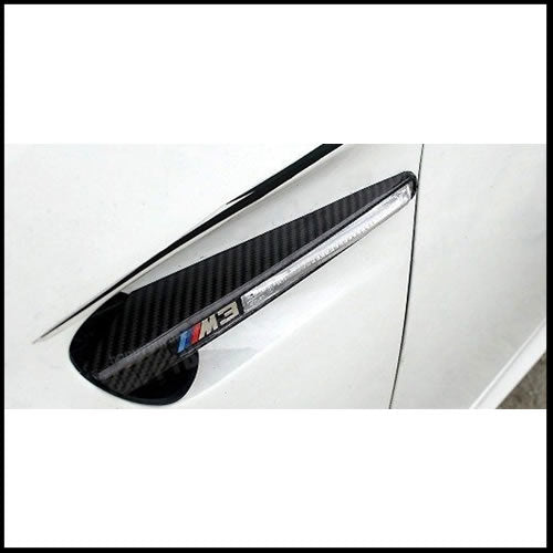 Autotecknic BMW E90 Sedan / E92 Coupe / E93 Cabrio / M3 Carbon Fiber Replacement Fender Grilles