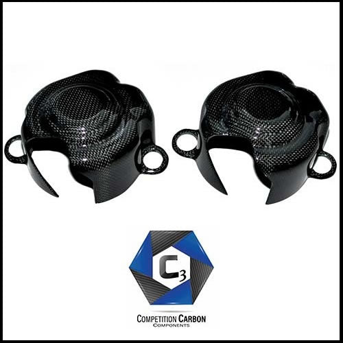 C3 Carbon Ferrari 458 Carbon Fiber Fuel Pump Covers