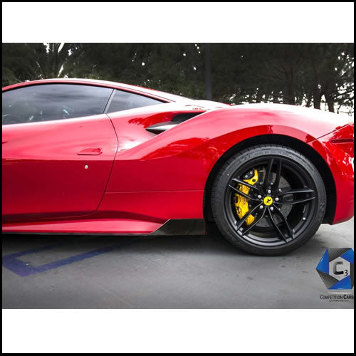 C3 Carbon Ferrari 488 GTB/Spider Carbon Fiber Side Skirts