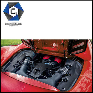 C3 Carbon Ferrari 488 Spider Carbon Fiber Engine Bay
