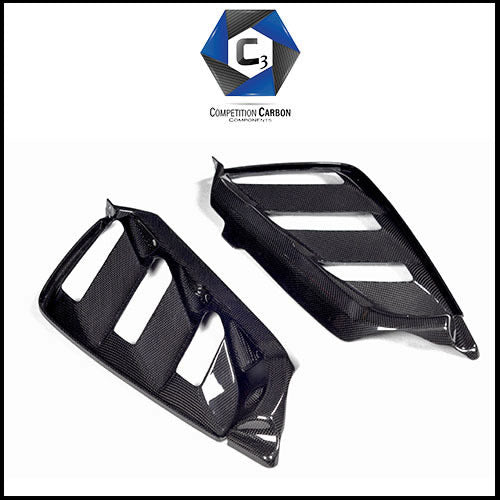 C3 Carbon Ferrari 488 Spider Carbon Fiber Rear Bonnet Air Vents