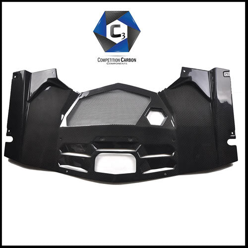 C3 Carbon Lamborghini Aventador LP700 Carbon Fiber Engine Bay Rear Cover