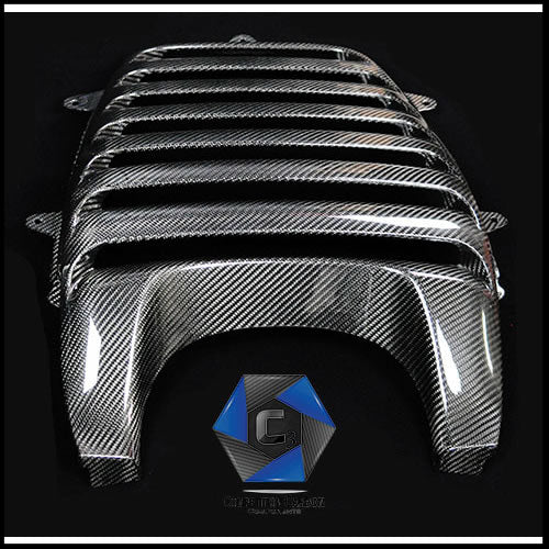 C3 Carbon McLaren MP4-12C/650S Carbon Fiber Engine Cover (Armadillo)