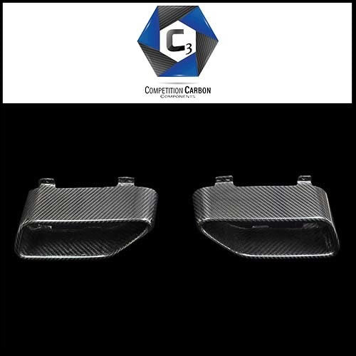 C3 Carbon McLaren MP4-12C/650S Carbon Fiber Exhaust End Cap
