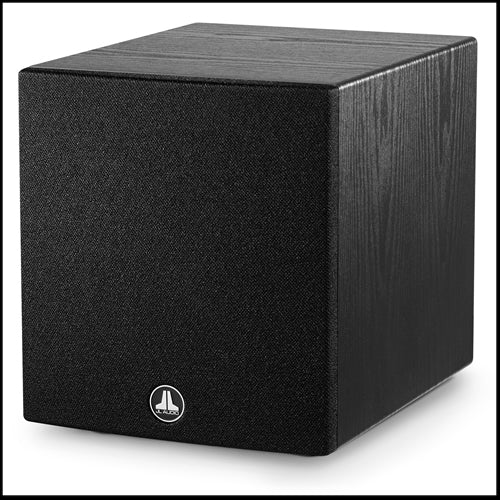 JL AUDIO Dominion™ d108-ASH: 8-inch (200 mm) Powered Subwoofer, Black Ash Finish