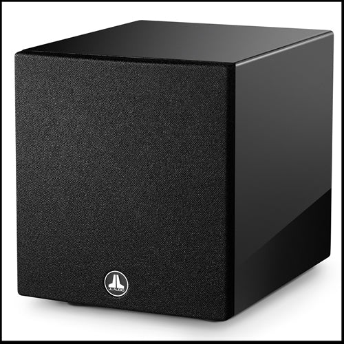 JL AUDIO Dominion™ d108-GLOSS: 8-inch (200 mm) Powered Subwoofer, Black Gloss Finish