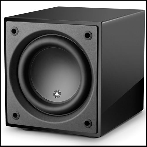 JL AUDIO Dominion™ d110-GLOSS: 10-inch (250 mm) Powered Subwoofer, Black Gloss Finish