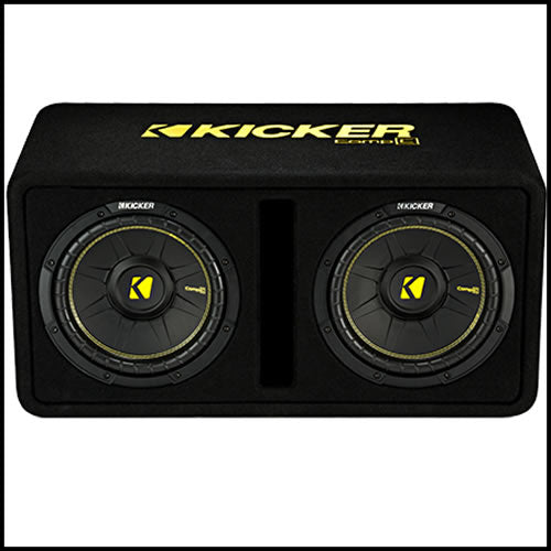 "KICKER Dual 10"" CompC Enclosure"
