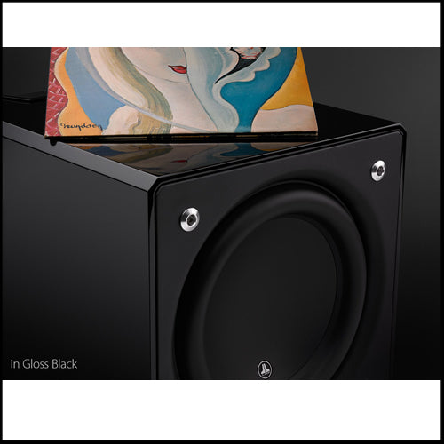 JL AUDIO E-Sub e112-GLOSS: 12-inch (300 mm) Powered Subwoofer, Black Gloss Finish