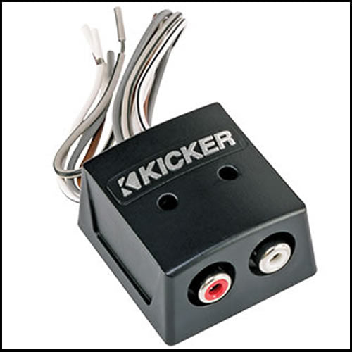KICKER KISLOC Speaker wire-to-RCA Converter with LOC, 2ch.