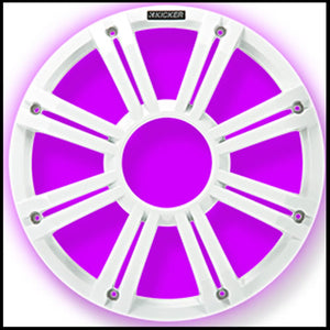 "KICKER KM/KMF 12"" White LED Grille"