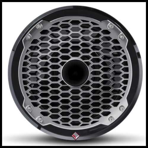"Punch Marine 8"" Full Range Speaker w/ Horn Tweeter - Black Audio Design"
