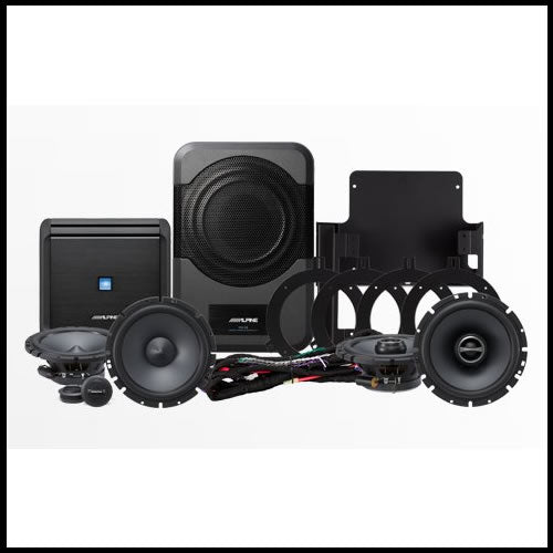 PSS-20WRA  Direct Fit Sound System for 2007-2014 Jeep Wrangler Unlimited