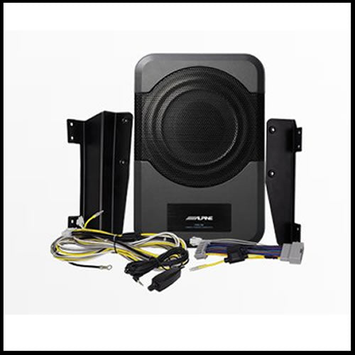 ALPINE PWE-S8-WRA  8-inch Compact Powered Subwoofer System for 2011-Up 4-door Jeep Wrangler