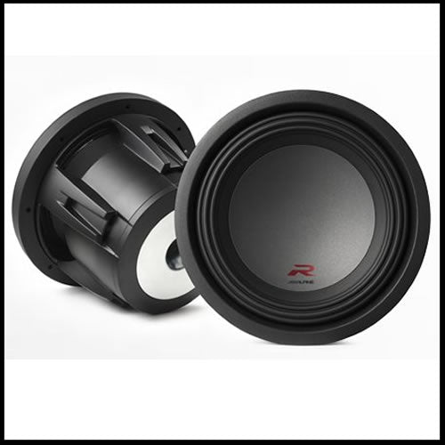 "Alpine Subwoofer R-W10D4  10"" Subwoofer (4Ohm+4Ohm) Audio Design"