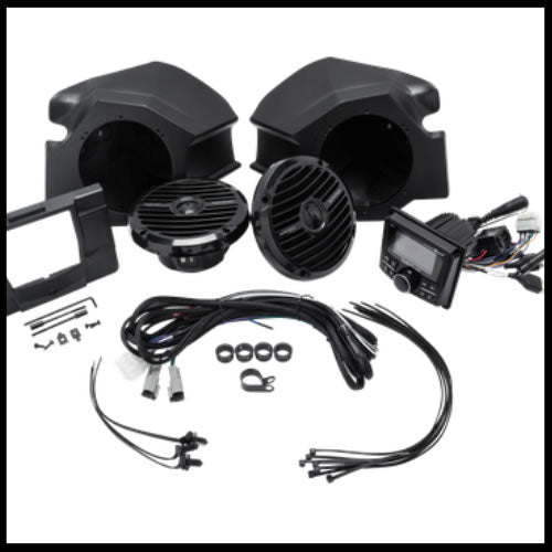 Stereo and front speaker kit for select Polaris® RZR® models  RZR-STAGE2