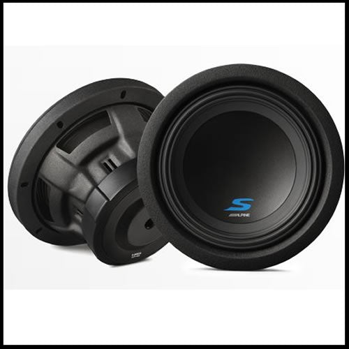 "ALPINE S-W8D2  8"" Dual Voice Coil (2 Ohm) High Performance Subwoofers"