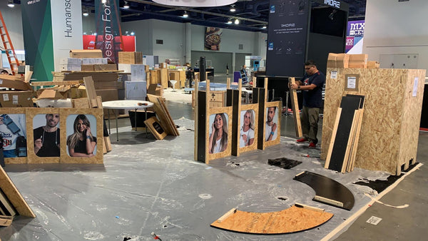 wraps team building our stand at CES 2019