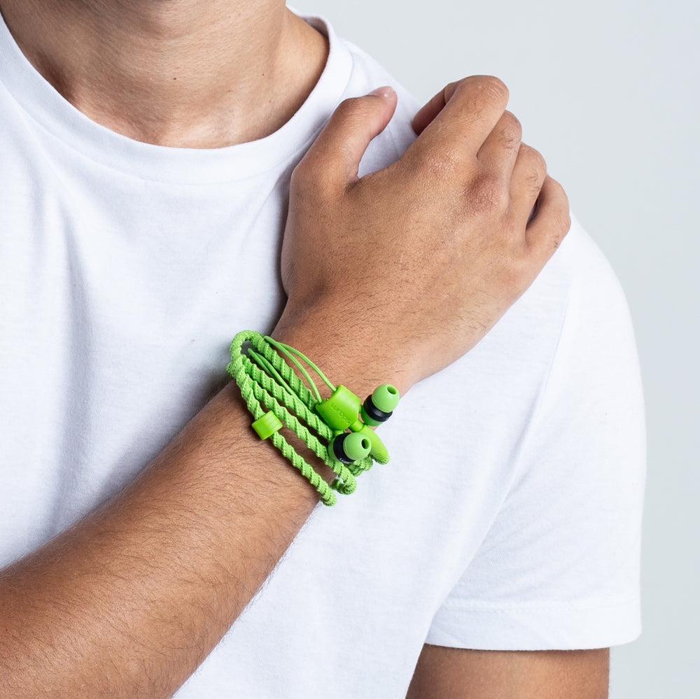 Wraps Classic Green - Anti Tangle Headphone Wrist