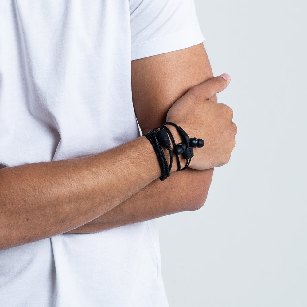 Wraps Natural Noir - Anti Tangle Headphone Wrist