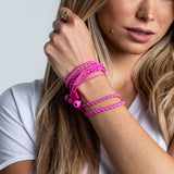 Wraps Classic Pink - Anti Tangle Headphone Wrist