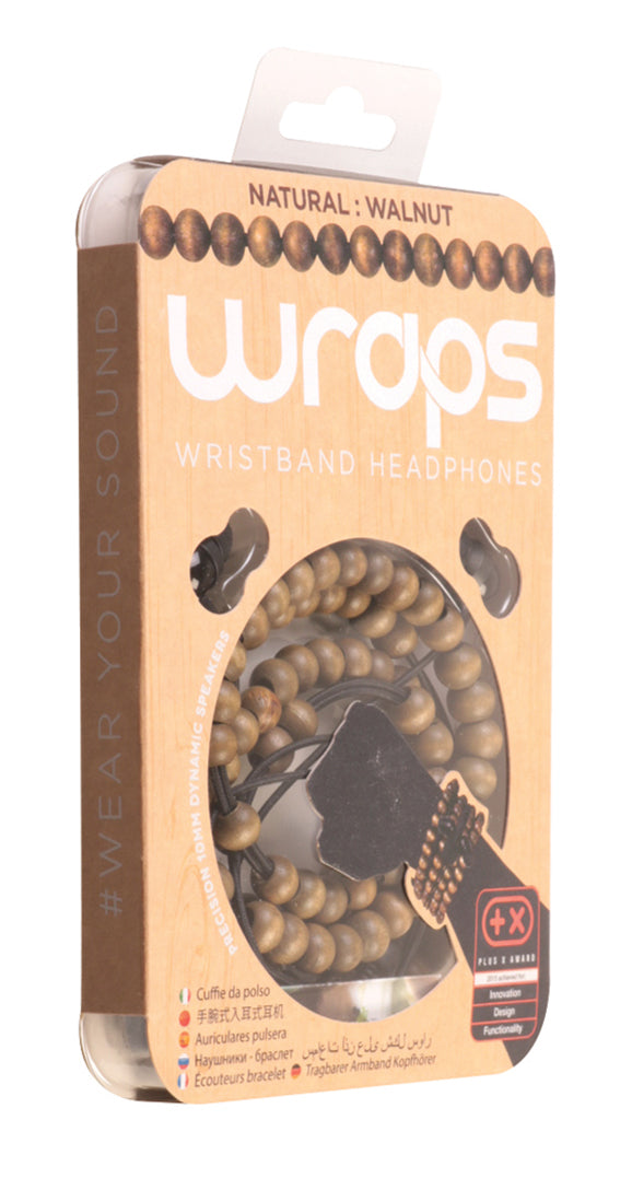 Wraps Natural Walnut - Anti Tangle Headphone Packaging