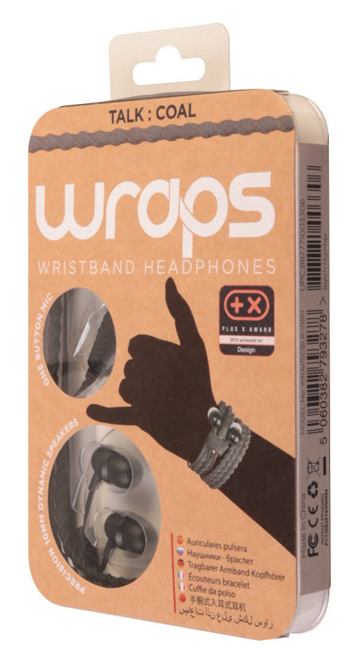 Wraps Talk Coal - Anti Tangle Headphone Packaging