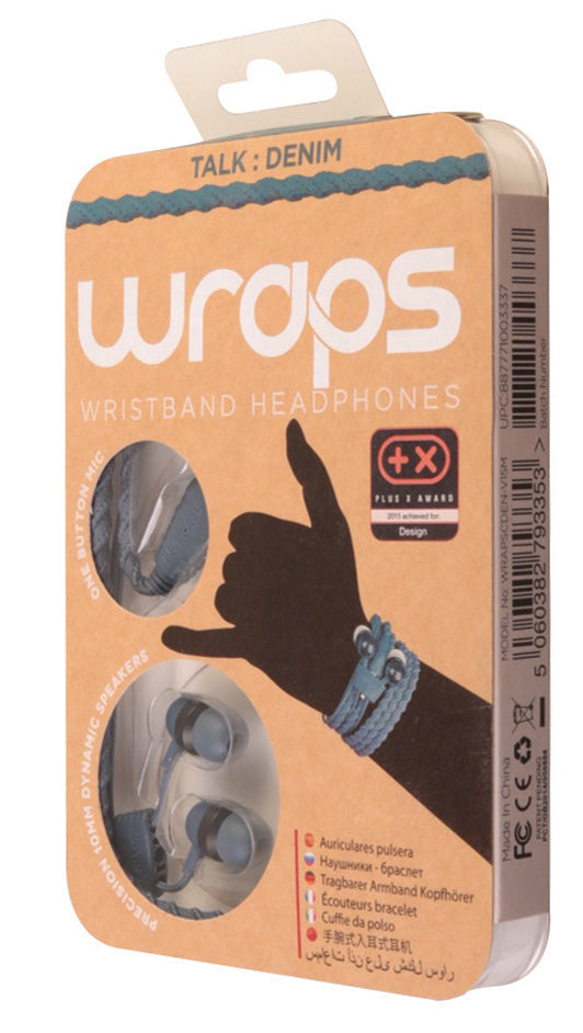 Wraps Talk Denim - Anti Tangle Headphone Packaging