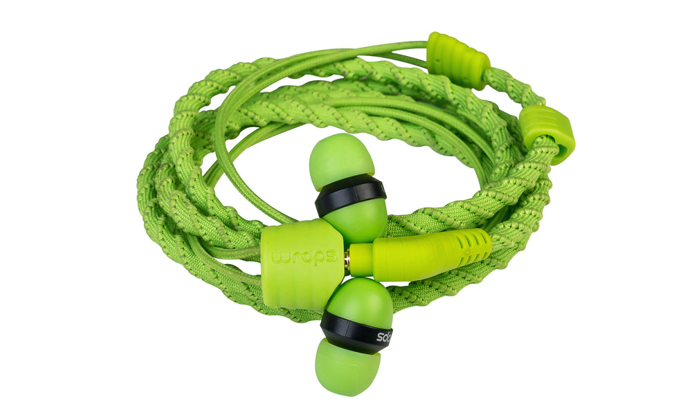 Wraps Classic Green - Anti Tangle Headphone