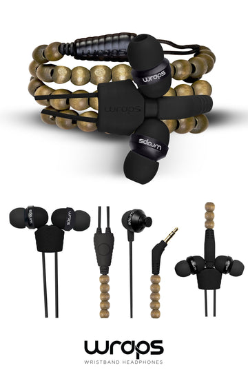 WRAPS Natural In-ear Headphones with Microphone
