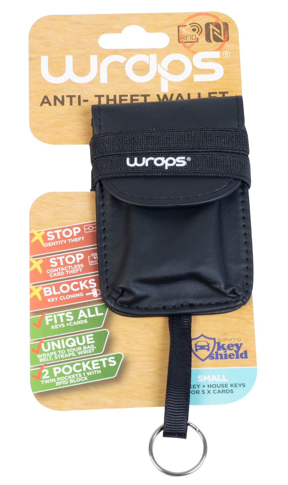 Wraps Anti-Theft Wallet Keyring