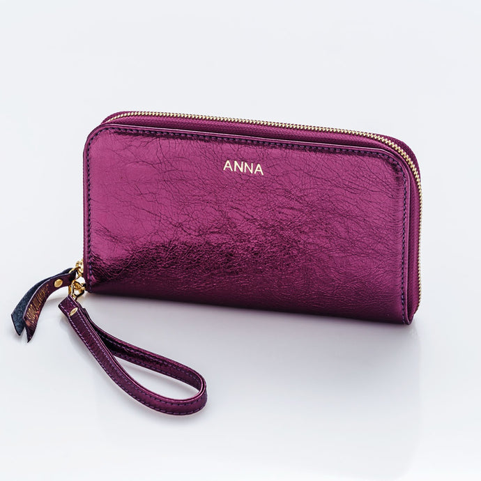 MONOGRAM PURSE - metállila