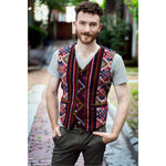 Men's Yathra Vest with Gold Metal Buttons and sash
