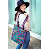 Woman's Silk & Cotten Colorful Shoulder Bag