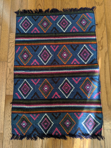 Blue Chairback Cover Handmade in Bhutan (32X32)