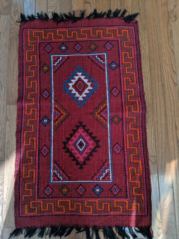 Red Runner Handmade in Bhutan ( 37X32)