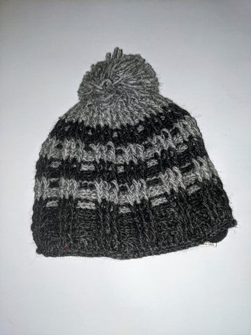 Wool Hat; Grey and Black