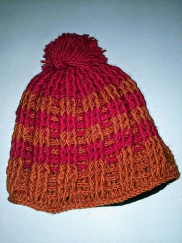 Wool Hat  Red & Orange