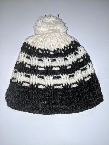 Wool Hat- Black & White