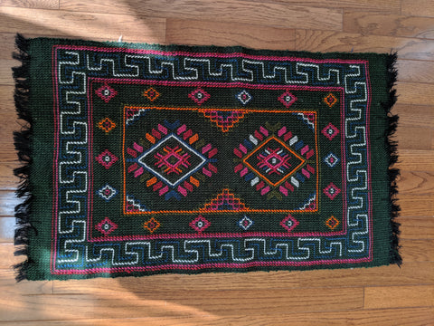 Green Runner handmade in Bhutan (46X25)