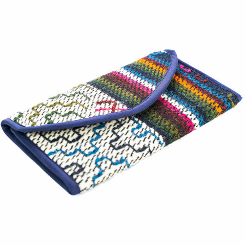 Hand Loomed  in Bhutan: Women's  Tri-Fold Sheep Wool Wallets