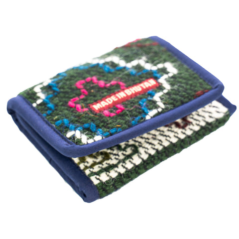 Hand Loomed  in Bhutan Men's Sheep Wool Wallets