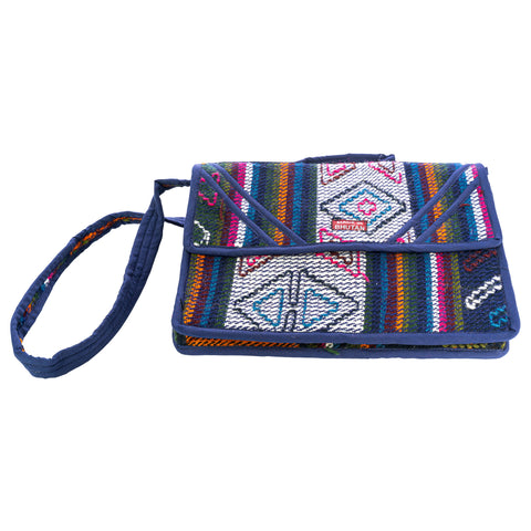 Handwoven in Bhutan; Laptop Sleeve with Handle