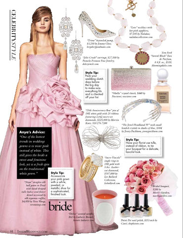 Nuciano Crystal Clutch featured in Inside Weddings Magazine