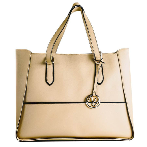 Gabby Tote in Beige Saffiano Leather