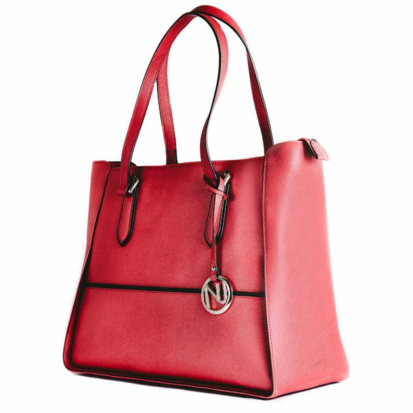 Gabby Tote in Marsala Saffiano Leather